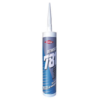 Image of Dow 781 Acetoxy Silicone Sealant Clear 310ml
