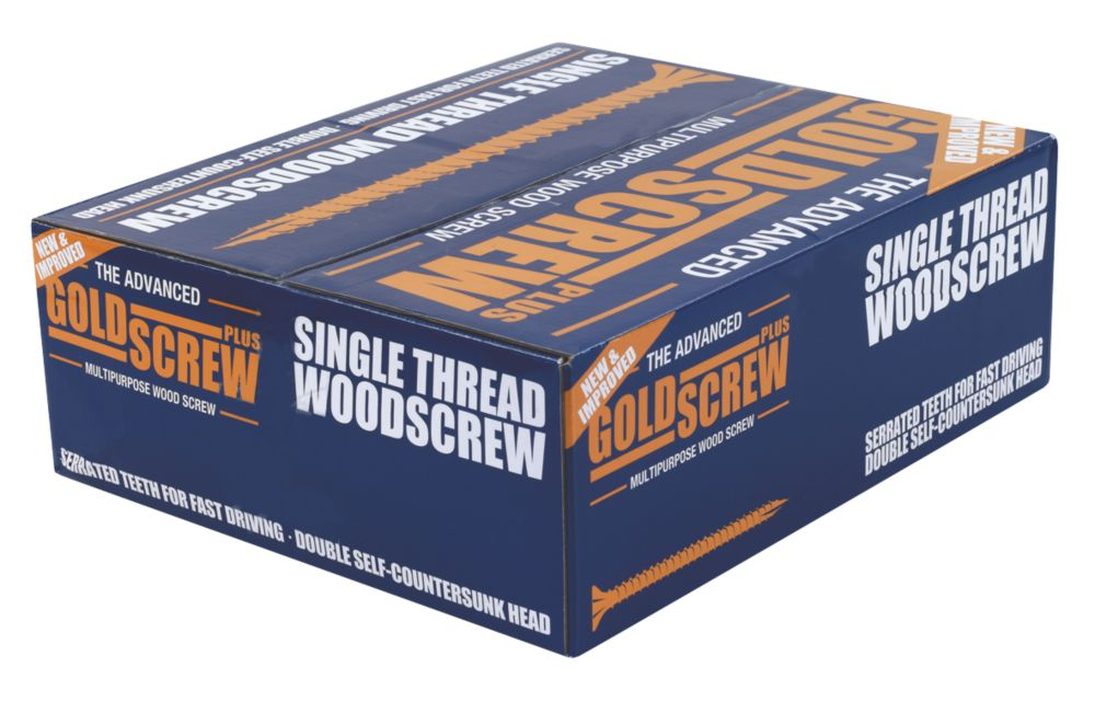 Image of Goldscrew Plus Woodscrews Double Countersunk 5 x 100mm 1000 Pack