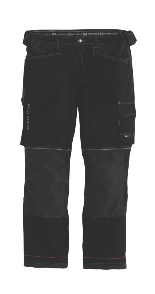 "Image of Helly Hansen Chelsea Construction Trousers Black/Charcoal 34"" W 32"" L"