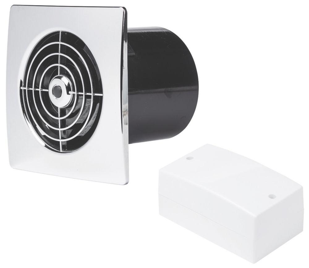 Image of Manrose LP100SLVC 20W Low Profile Bathroom Fan