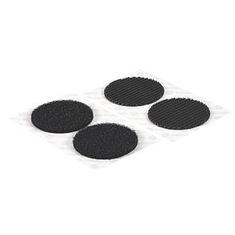Image of Velcro Brand Black Heavy Duty Stick-On Coins 6 Pieces