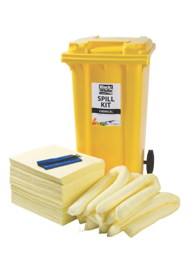 Image of Lubetech 240Ltr Black & White Chemical Spill Response Kit