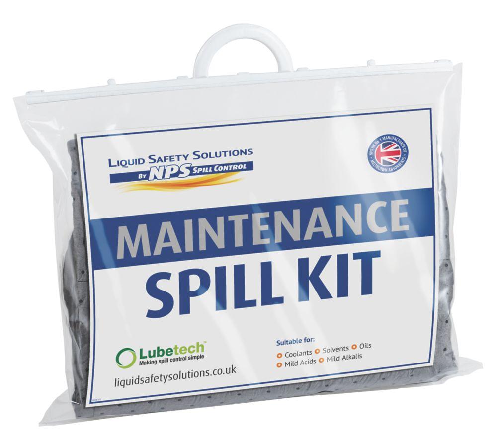 Image of Lubetech 20Ltr Black & White Maintenance Spill Response Kit