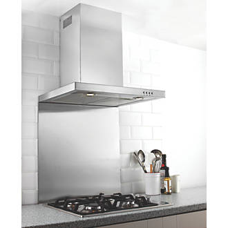 Image of Hafele Stainless Steel Splashback 900 x 750 x 8mm