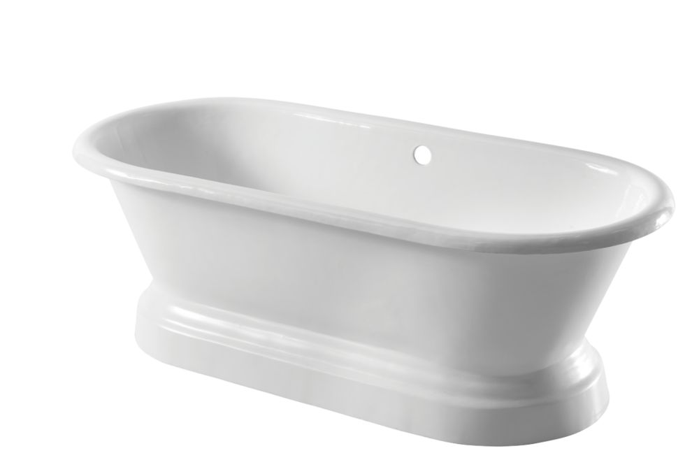 Image of Arroll Double-Ended Bath Cast Iron No Tap Holes 1676mm