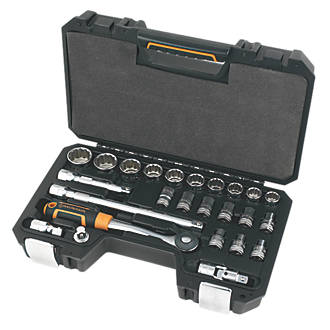 """Image of Magnusson 1/2"""" Drive 12-Point Socket Set 25 Pieces"""