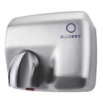 Image of BlueDry Blue Storm Hand Dryer Brushed Steel 2.3kW