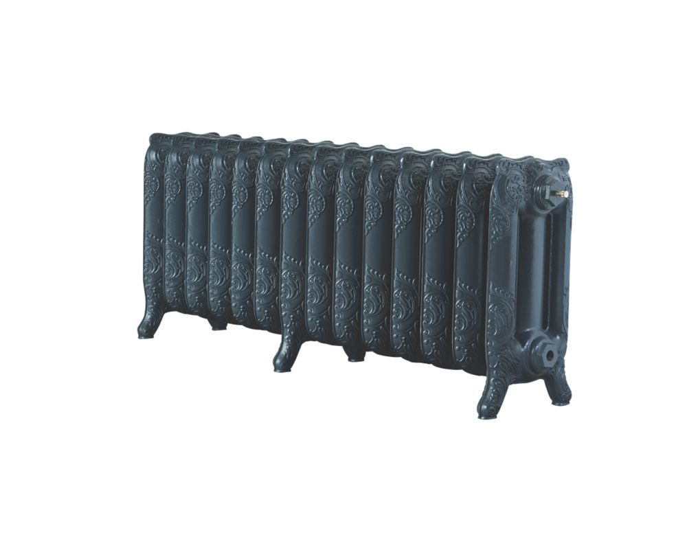 Image of Arroll Montmartre 3-Column Cast Iron Radiator Anthracite 470 x 1154mm