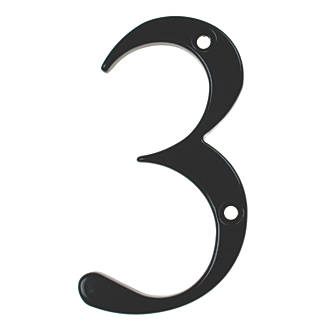 Image of Fab & Fix Door Numeral 3 Black 80mm