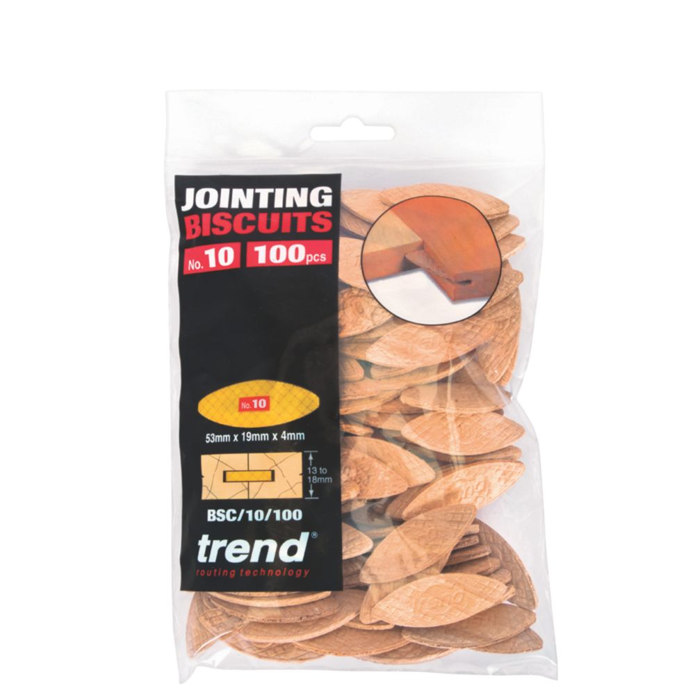 Image of Trend No. 10 Jointing Biscuits Pack of 100 100 Pack