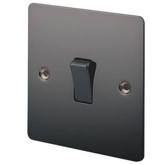 Image of LAP 10AX 1-Gang 2-Way Light Switch Black Nickel