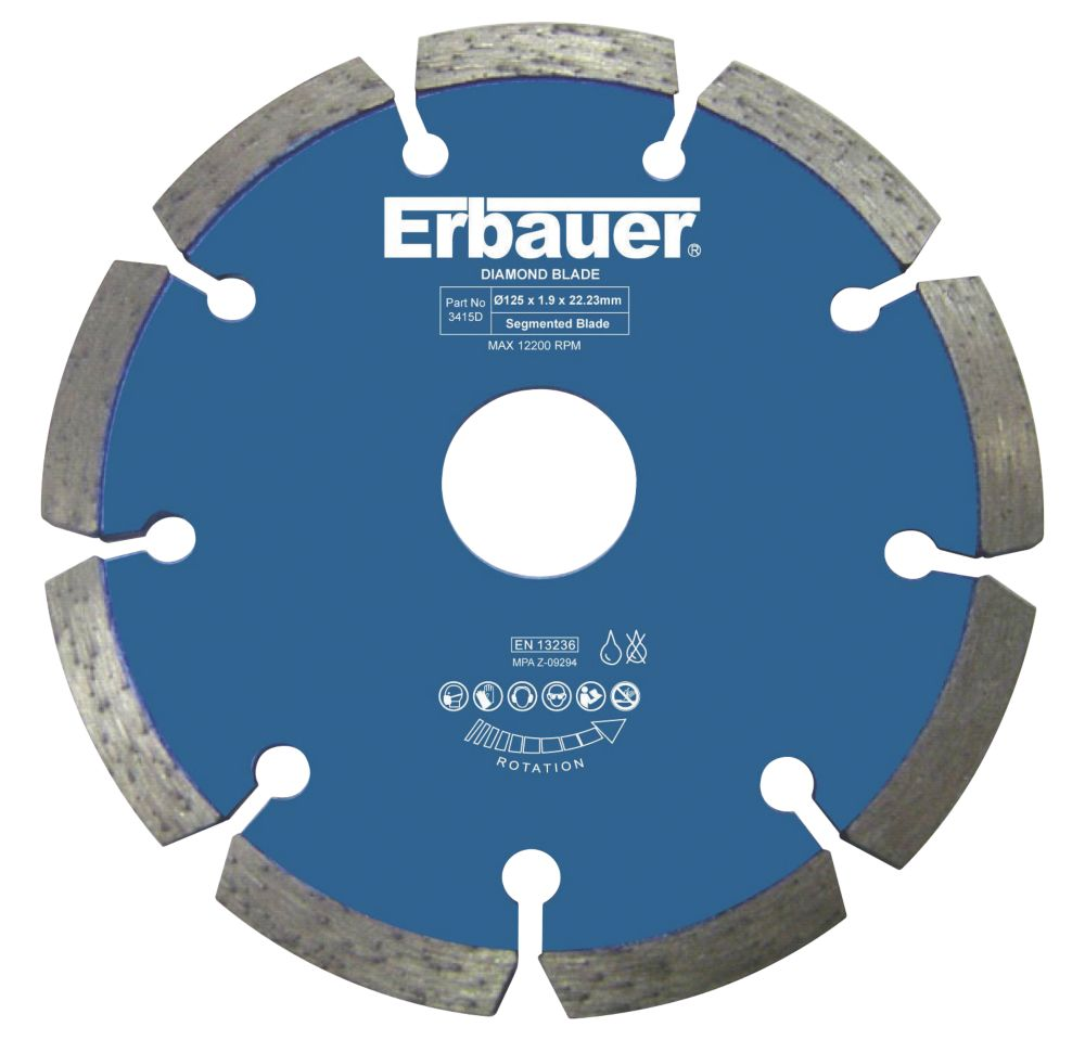 Image of Erbauer Diamond Wall Chaser Blades 125mm Twin Pack