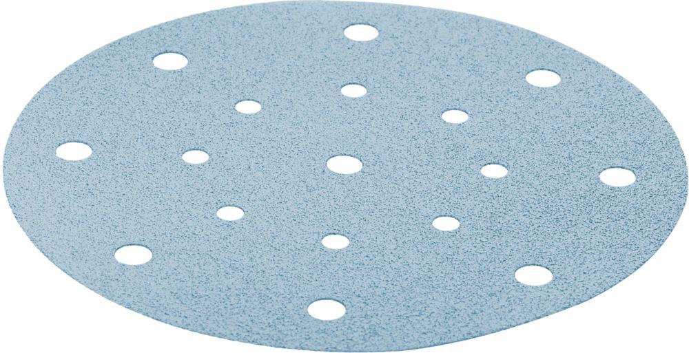 Image of Festool Granat Stickfix Sanding Discs Punched 150mm 80 Grit 10 Pack