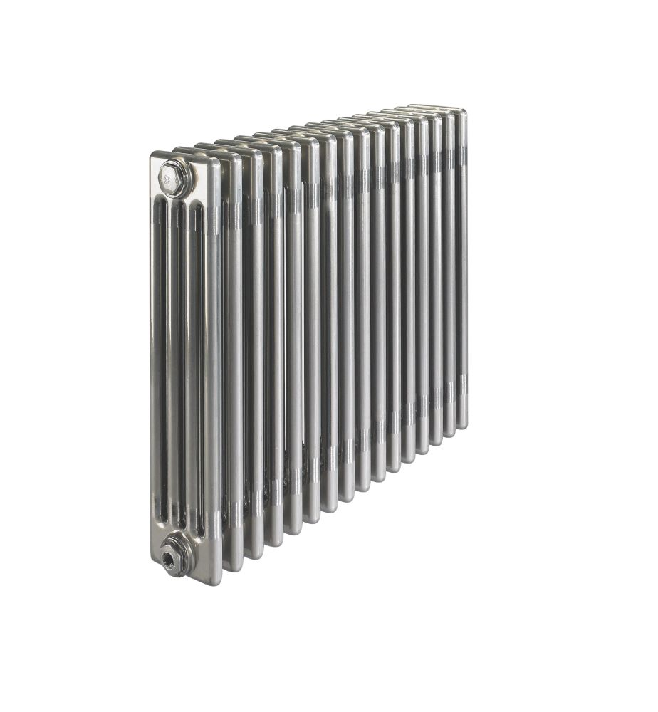 Image of Acova 4-Column Horizontal Designer Radiator 600 x 812mm Raw Metal