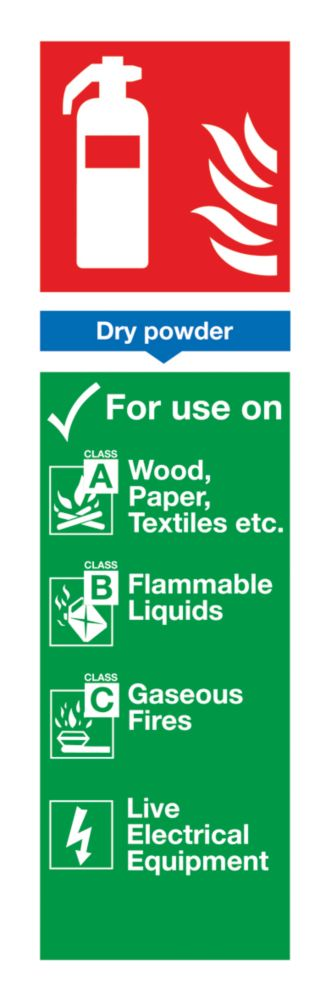 Image of Dry Powder Extinguisher ID Sign 280 x 90mm