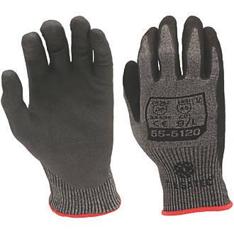 Image of Tilsatec 55-5120 Cut 5/E Foam Nitrile Gloves Grey / Black Large
