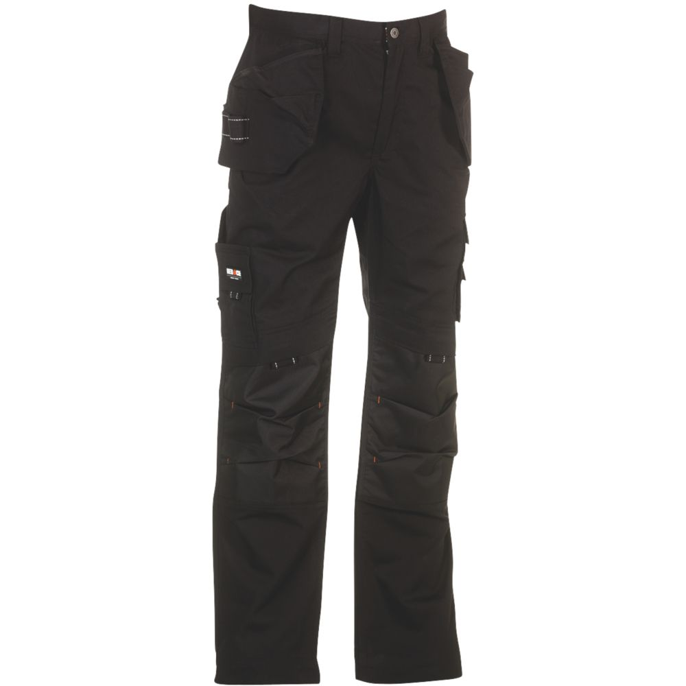 "Image of Herock Dagan Trousers Black 36"" W 32"" L"