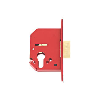 Image of Union Stainless Steel Euro Profile Mortice Lock 68mm Case - 45mm Backset
