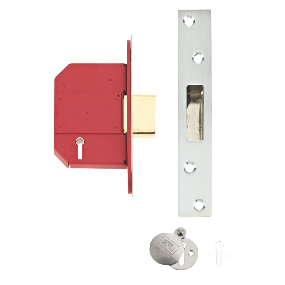 Image of Union Stainless Steel BS 5-Lever Mortice Deadlock 68mm Case - 45mm Backset