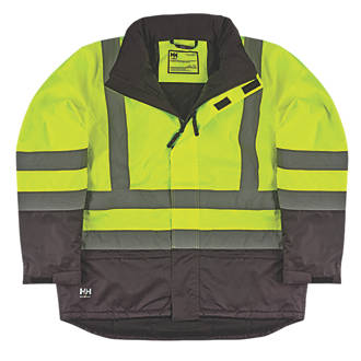 Helly Hansen Insulated HiVis Jacket YellowCharcoal Extra Large 45½ Chest