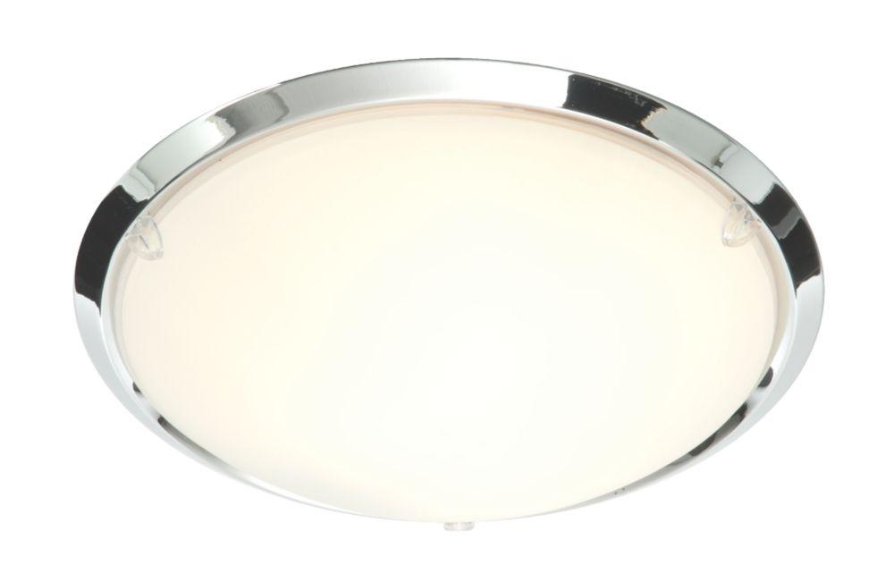 Bathroom Lights Screwfix treviso rim bathroom ceiling light chrome ses 40w | bathroom