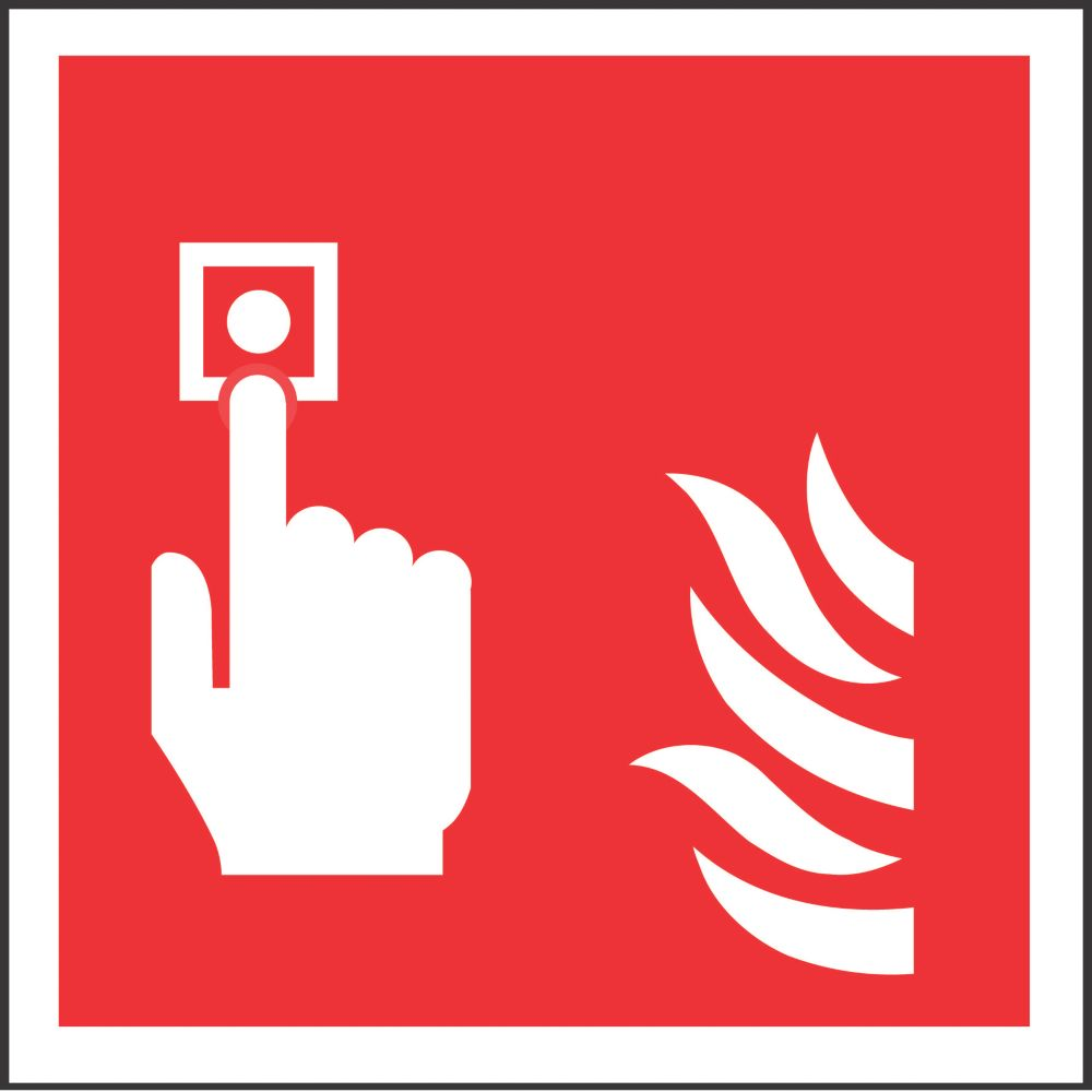 Image of Fire Alarm Symbol Sign 100 x 100mm
