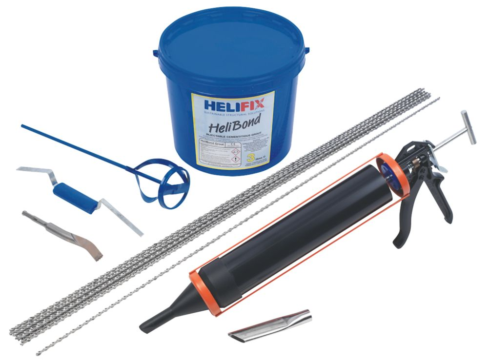Image of HeliFix Crack Stitching Kit Grout 300mm x 1.04m