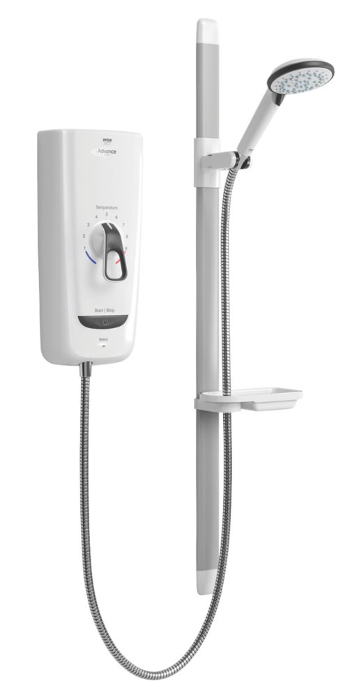 Image of Mira Advance Flex White 9.8kW Thermostatic Electric Shower