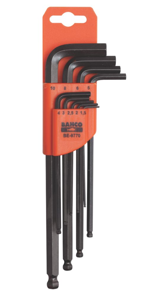 Image of Bahco Long Ball-End Hex Key Set 9 Pieces