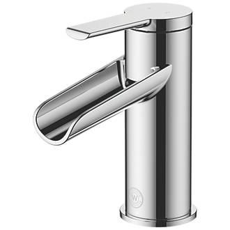 Image of Watersmith Heritage Abbey Waterfall Basin Mono Mixer Tap with Clicker Waste