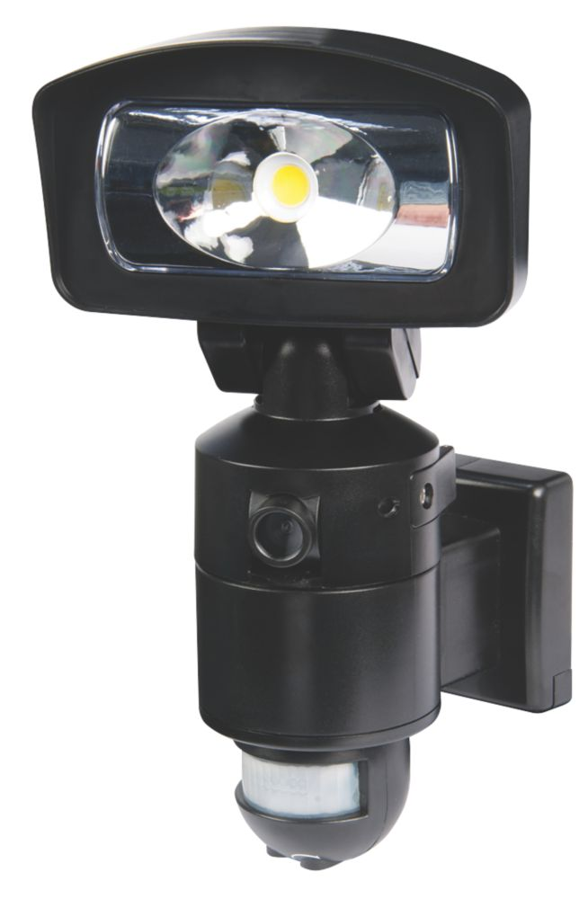 Image of Nightwatcher NE400B 16W LED Security Light & Camera PIR Black 4GB