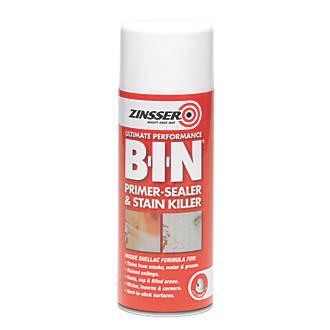 Image of Zinsser B-I-N Primer/Sealer & Stain Killer Spray Matt White 400ml