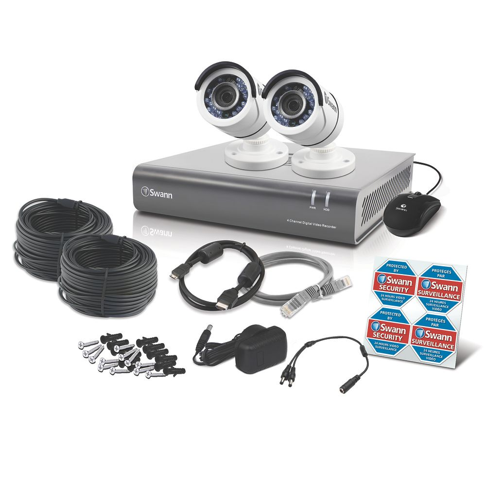 Image of Swann SWDVK-445502-UK 4-Channel Security System & 2 Cameras