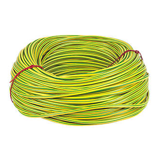Image of CED PVC Sleeving 6mm x 100m Green/Yellow