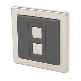Image of Lightwave 1-Gang -Way Generation 1 Wireless Dimmer Switch Stainless Steel
