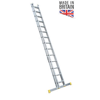 Image of Lyte 2-Section Aluminium Extension Ladders 7.03m