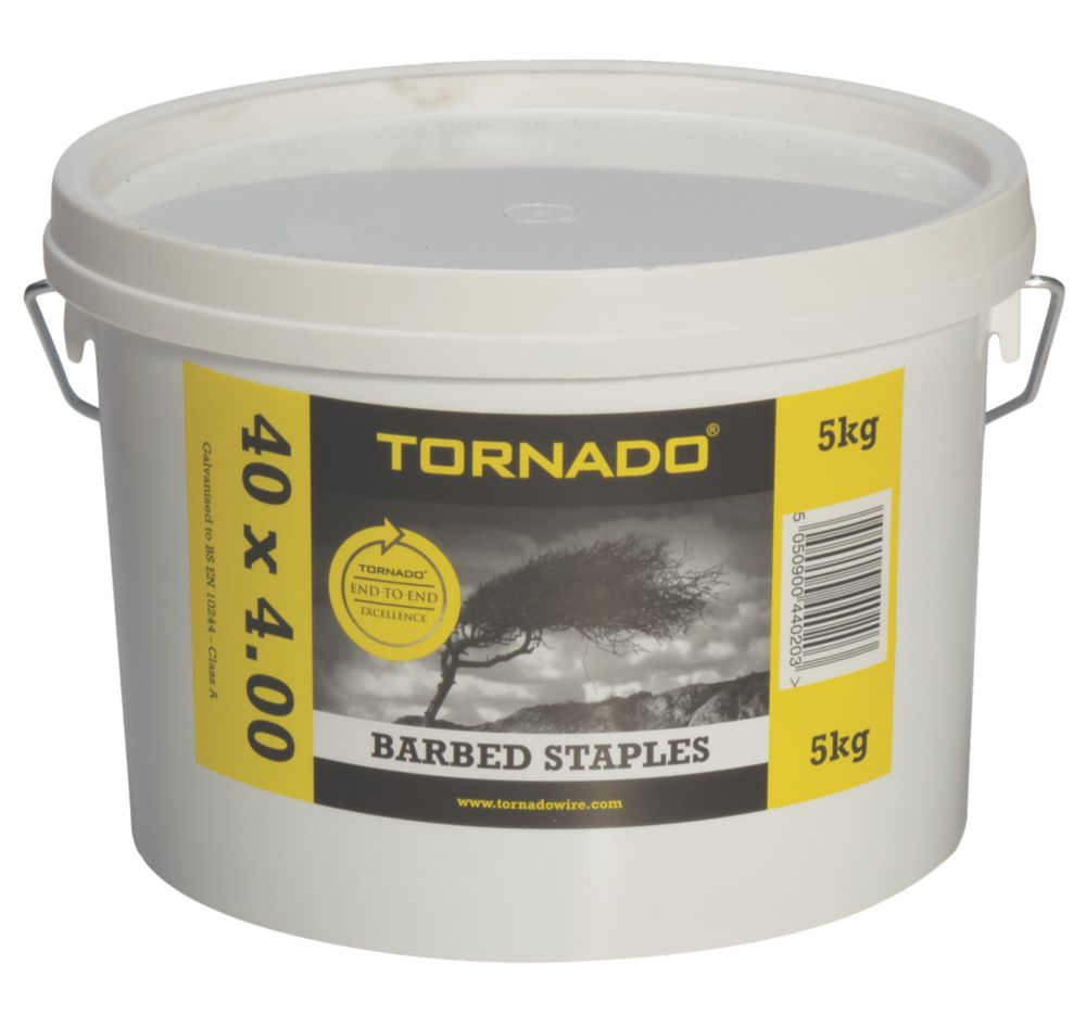 Image of Tornado Barbed Fencing Staples 40 x 4mm 5kg