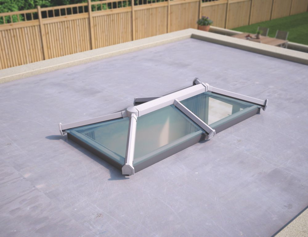 Image of ATT Fabrications Ltd Clear Glass Roof Lantern White 2000 x 1000mm