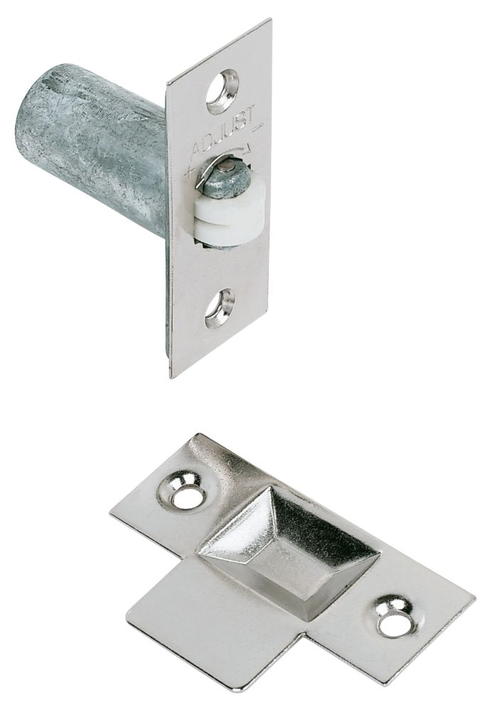Image of Adjustable Roller Catch Nickel-Plated 23mm 5 Pack