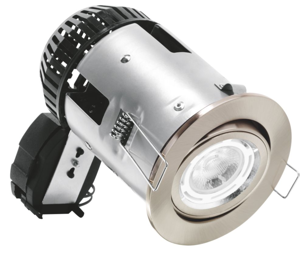 Image of Aurora Adjustable Round Fire Rated Downlight Silver 240V