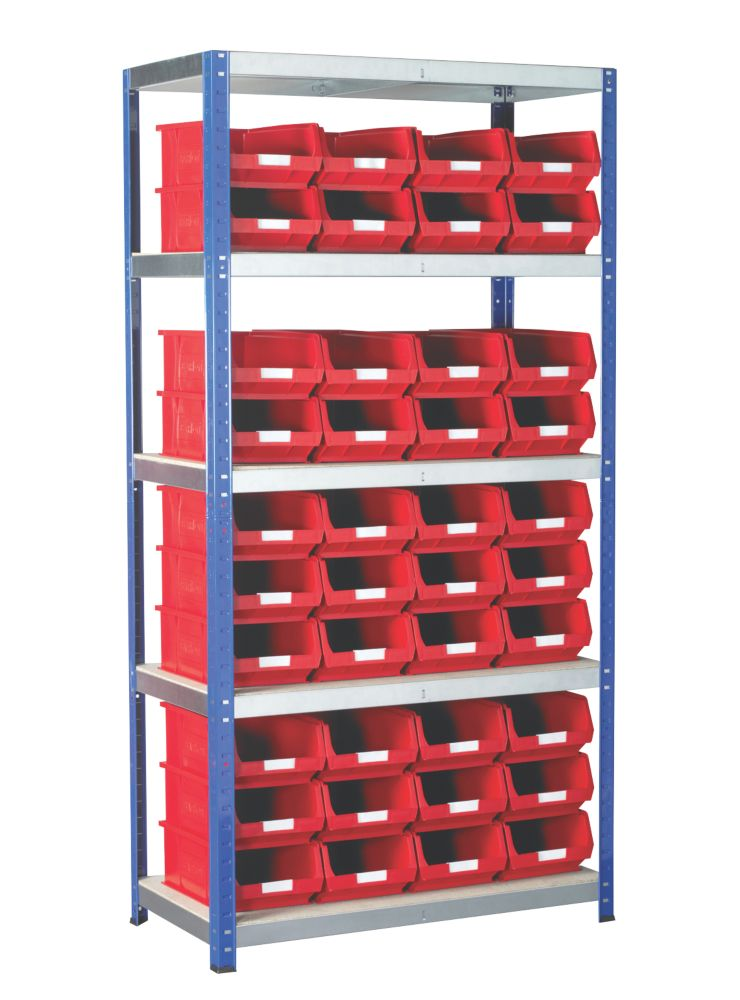 Image of Barton Ecorax Shelving Red 900 x 450 x 1800mm