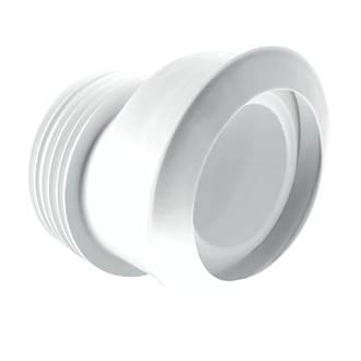 Image of McAlpine MACFIT MAC-4 WC 20mm Offset Pan Connector White 90-112mm