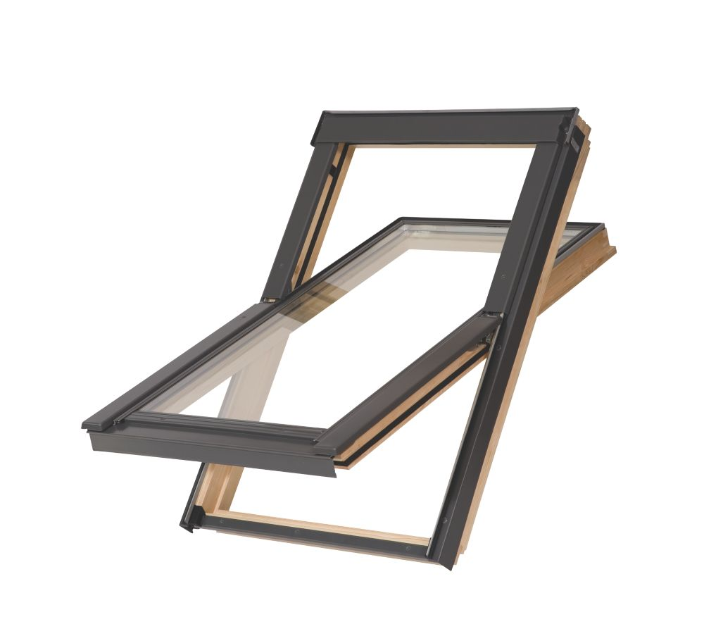 Image of Tyrem C2A Manual Centre-Pivot Lacquered Natural Pine Roof Window Clear 550 x 780mm