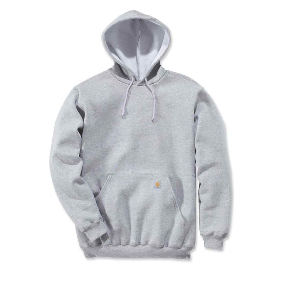 Image of Carhartt K121 Hoodie Heather Grey Large Chest