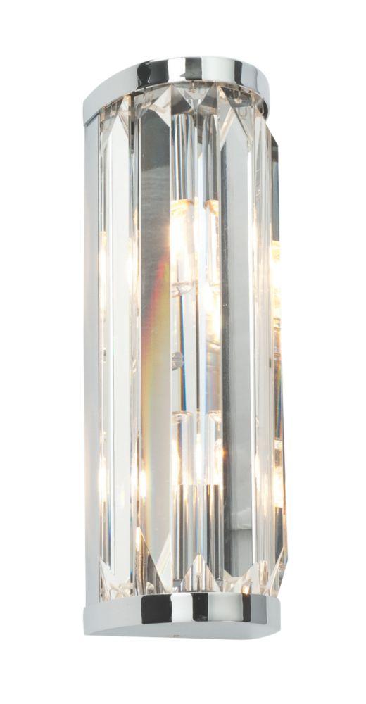 Bathroom Lights Screwfix saxby crystal bathroom wall light chrome g9 36w | bathroom wall