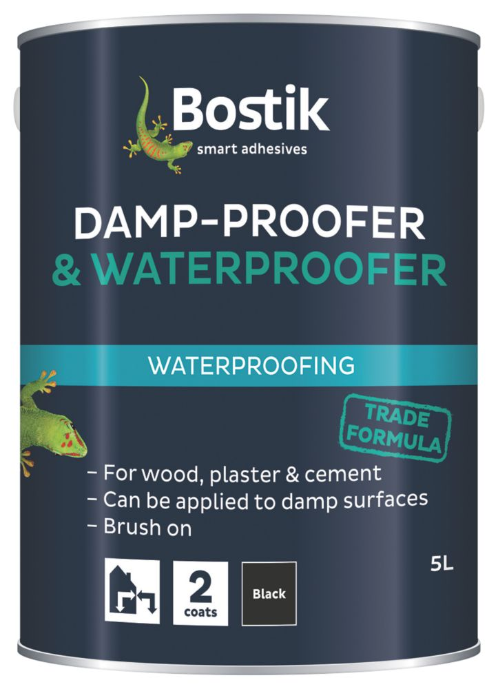 Image of Cementone Aquaprufe Flexible Damp-Proofer & Waterproofer Black 5Ltr