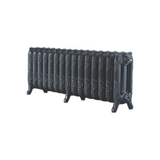 Image of Arroll 3-Column Cast Iron Radiator 470 x 1234mm Pewter