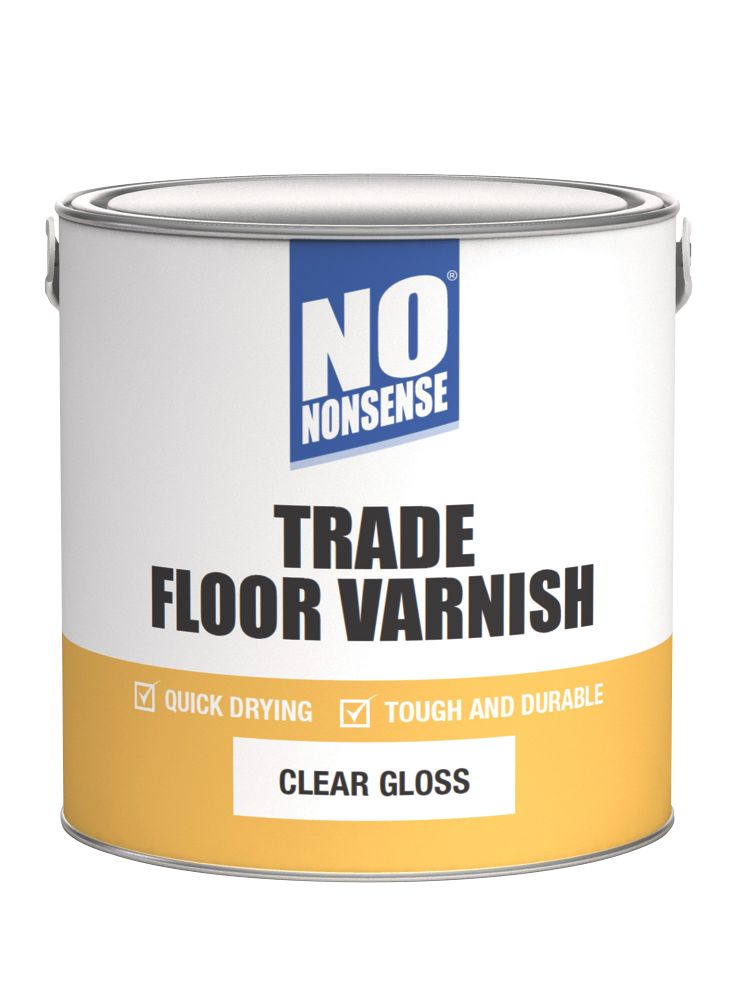 Image of No Nonsense Quick-Dry Floor Varnish Gloss 2.5Ltr