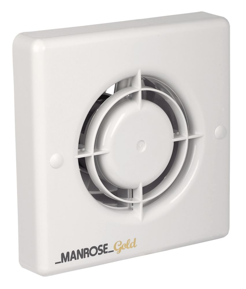 Bathroom Extractor Fan manrose mg100s 20w gold standard long life axial bathroom