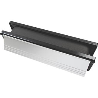 Image of Firestop Intumescent Letterbox Polished Silver 306 x 70mm